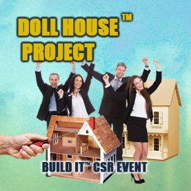 build-a-dollhouse-charity-team-building CSR Team Building - Corporate Social Responsability Team Activities & Events