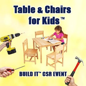build-table-chairs-charity-team-building CSR Team Building - Corporate Social Responsability Team Activities & Events