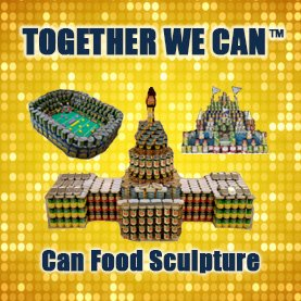 Canned Food Sculpture Team Building Csr Charity Philanthropy