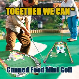 canned-food-mini-golf-corporate-team-building-activity CSR Team Building - Corporate Social Responsability Team Activities & Events