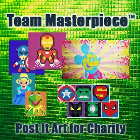 post-it-art-charity-team-events CSR Team Building - Corporate Social Responsability Team Activities & Events