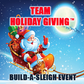 team-holiday-giving-build-a-sleigh Team Holiday Giving™ - CSR Team Building Charity & Philanthropy Events