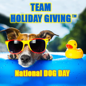 team-holiday-giving-national-dog-day Team Holiday Giving™ - CSR Team Building Charity & Philanthropy Events